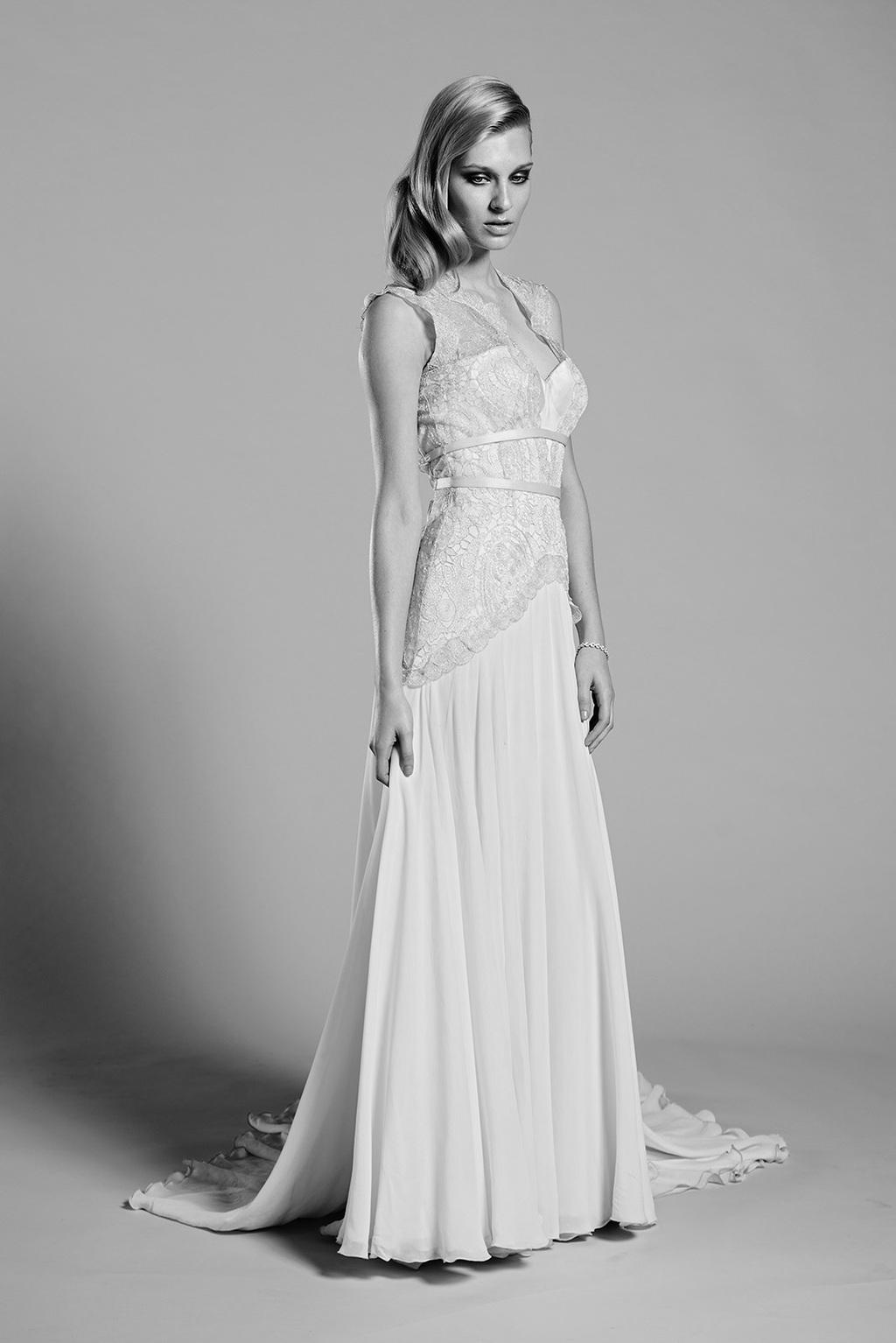Lilac wedding dress by mariana hardwick 2014 bridal for Lilac dress for wedding