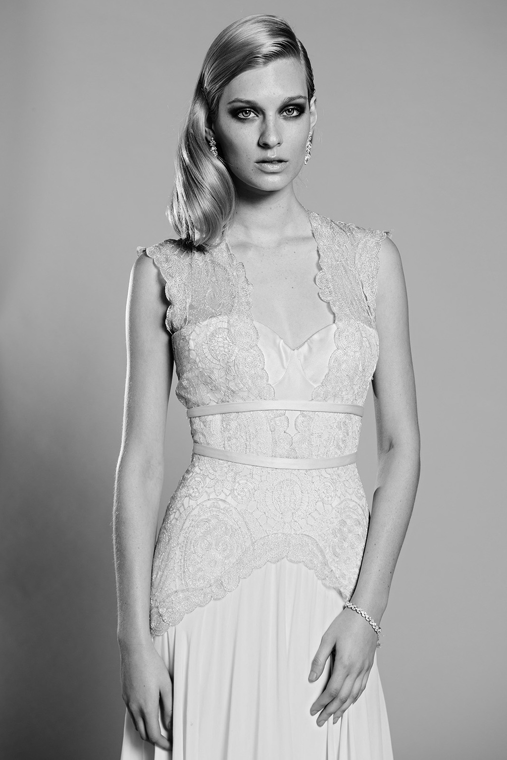 Lilac wedding dress by Mariana Hardwick 2014 bridal
