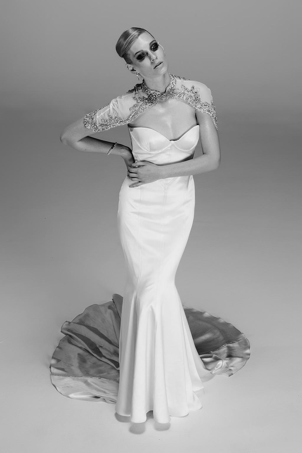Glamorous Mermaid Trumpet Wedding Dress