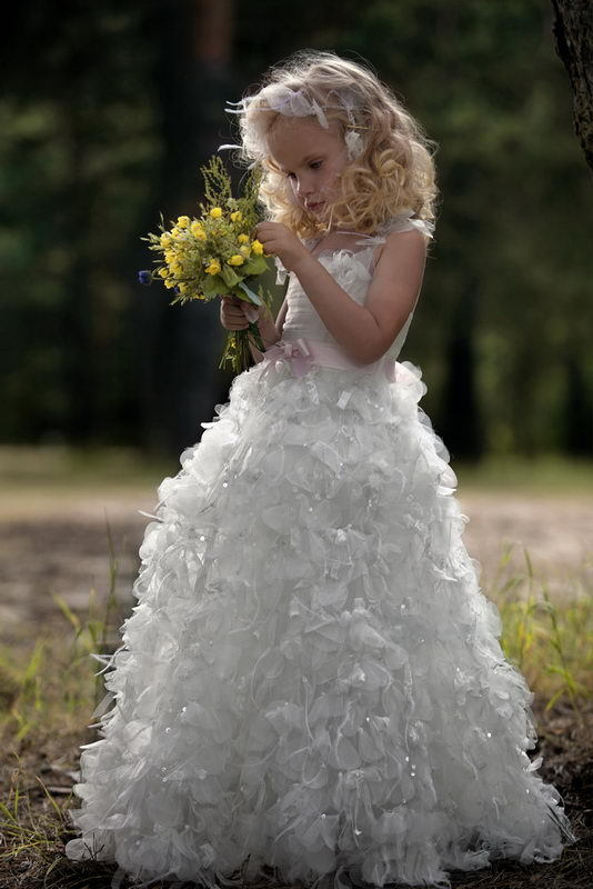 Fairytale-inspired flower girl dress