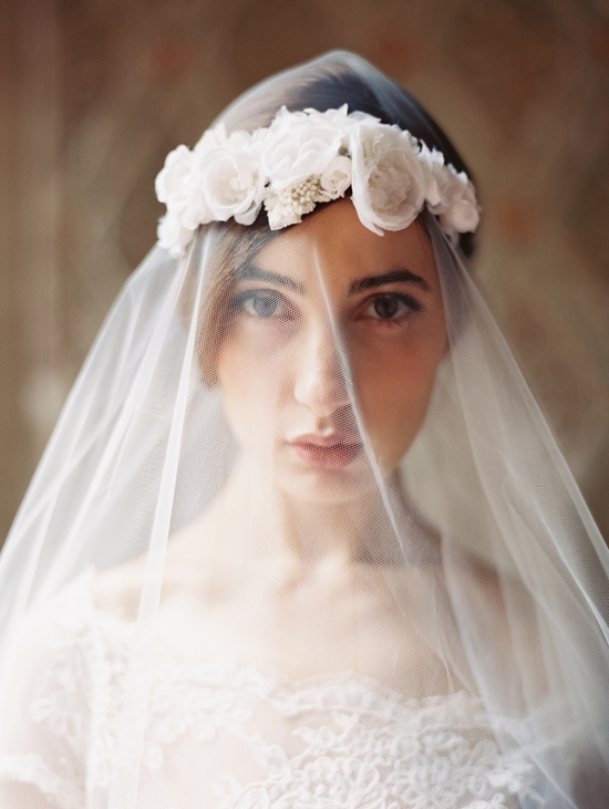 Enchanted Atelier Wedding Veils and Hair Accessories - Jardin en Blanc