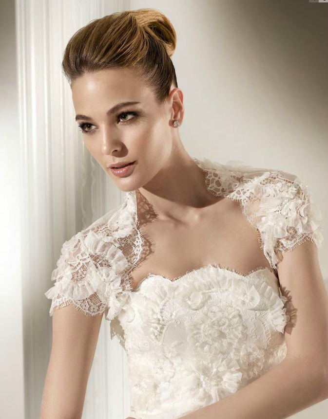 Romantic lace bridal bolero for Wedding dress lace bolero
