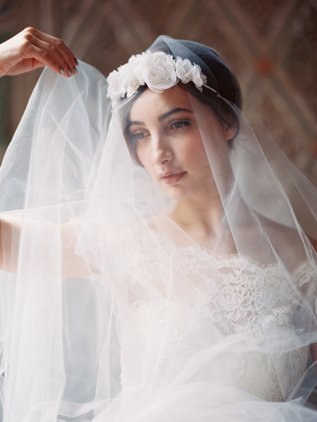 Atelier Wedding Veils and Hair Accessories - Veil with Floral Crown