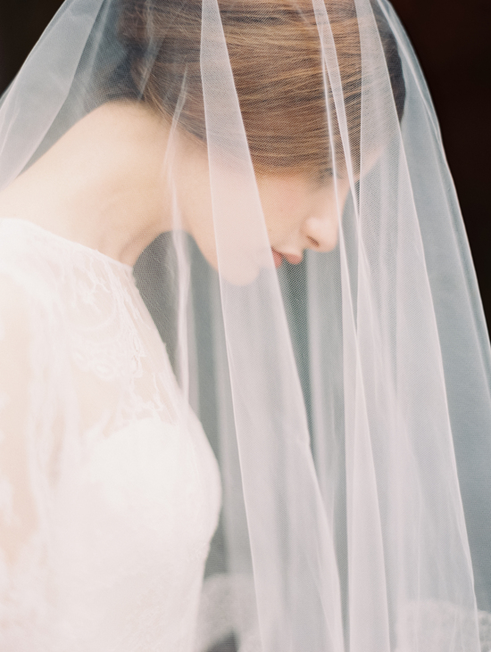 Enchanted Atelier Wedding Veils and Hair Accessories - Lace-trimmed veil