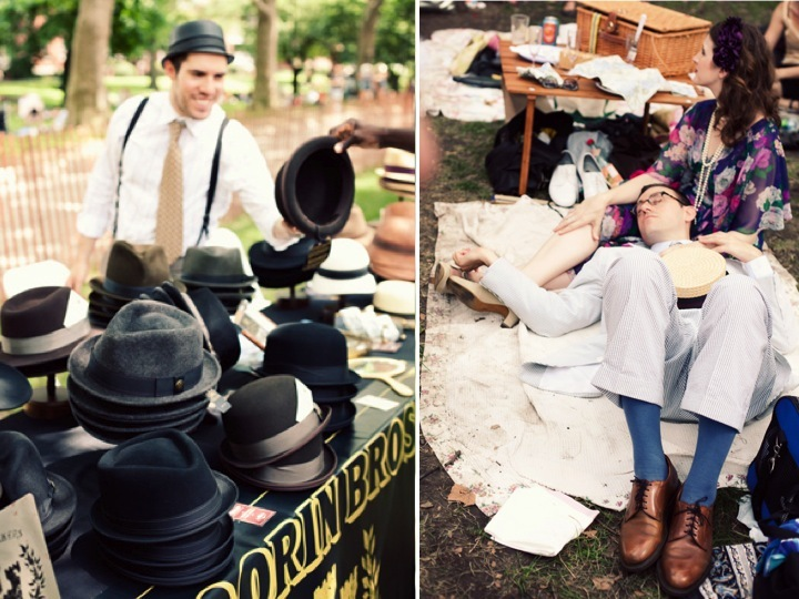 Love this! Vintage wedding theme for a casual summer wedding- the roaring 1920
