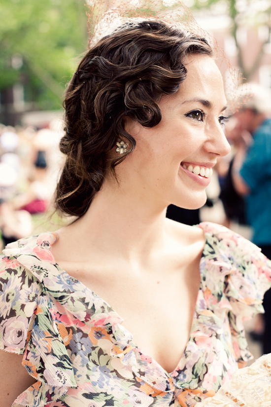 Vintage-inspired finger waves bridal updo