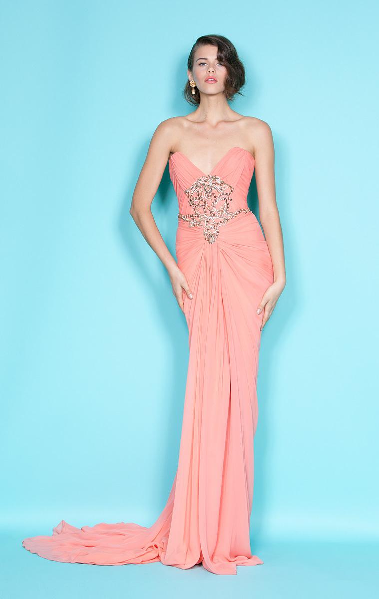 Coral-bridesmaids-dress-embellished-bodice-marchesa.full