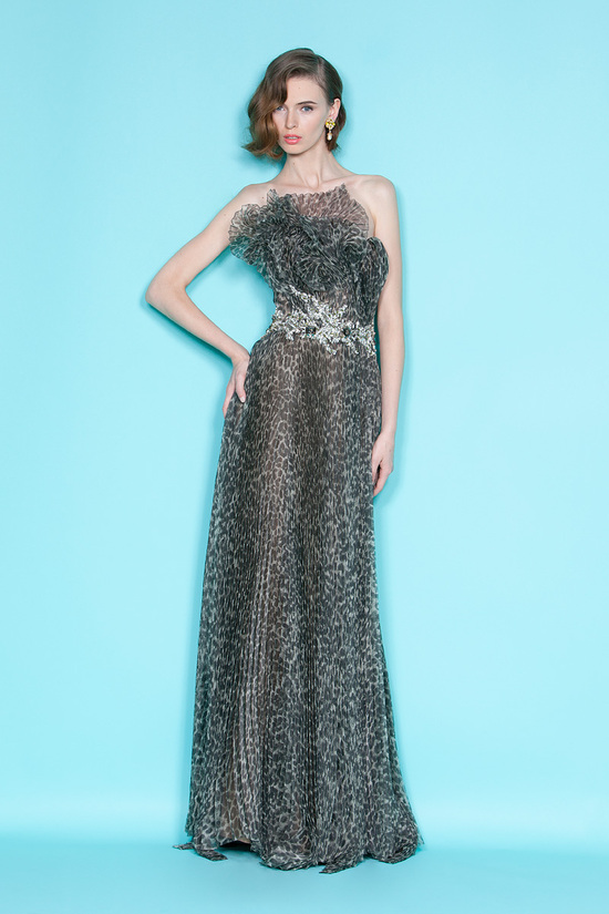 On-trend animal print Marchesa bridesmaid gown