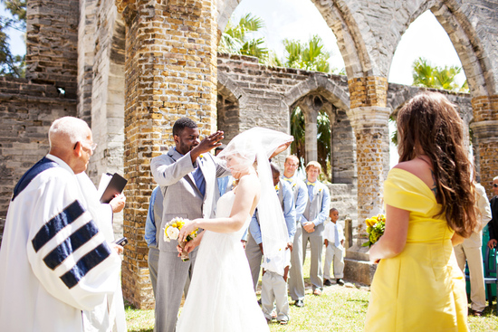 Beautiful Destination Wedding in Bermuda- Bride, Groom, and Wedding Party