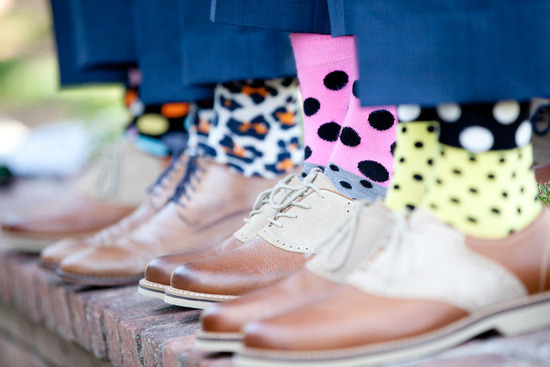 adorable socks for retro groomsmen