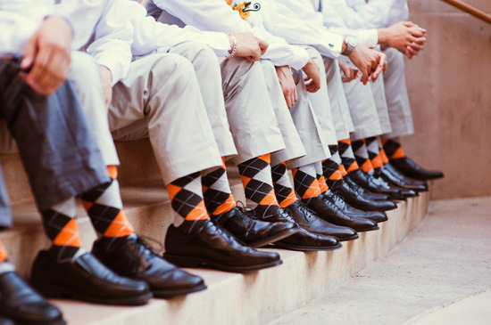 Groomsmen socks perfect for fall