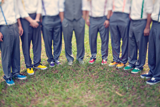 rainbow wedding groom groomsmen shoes
