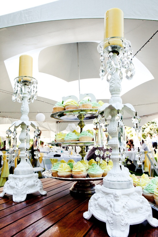 photo of Elegant Lemon + Lime Outdoor Wedding