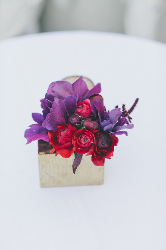 amythest and ruby wedding flowers
