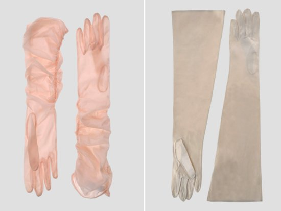 Vintage chic long bridal gloves