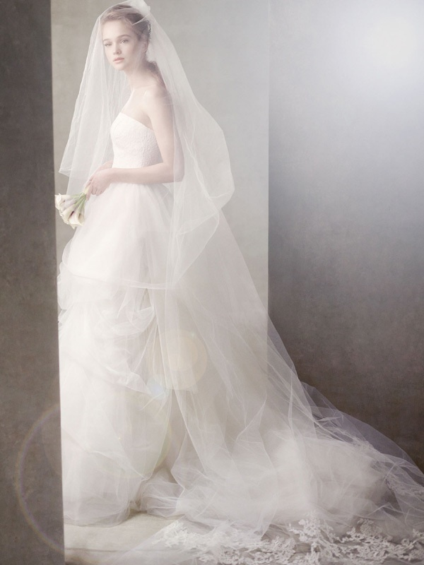 Ivory tulle ball gown wedding dress, White by Vera Wang