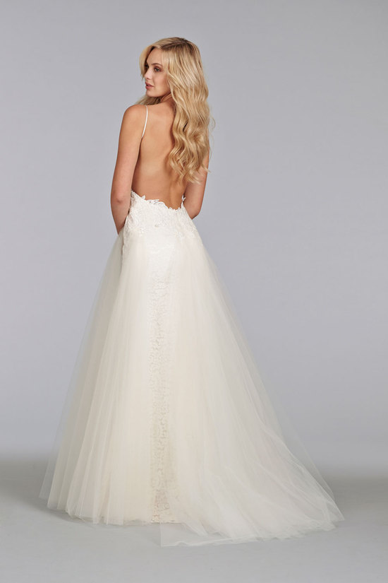 Wedding dresses on onewed for Spaghetti strap wedding dress low back