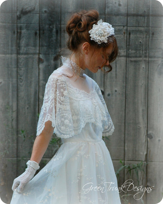 photo of wedding head chic for December brides 11