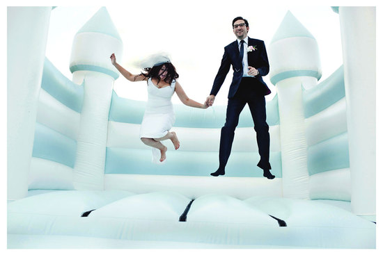 photo of bouncy castle for wedding reception entertainment
