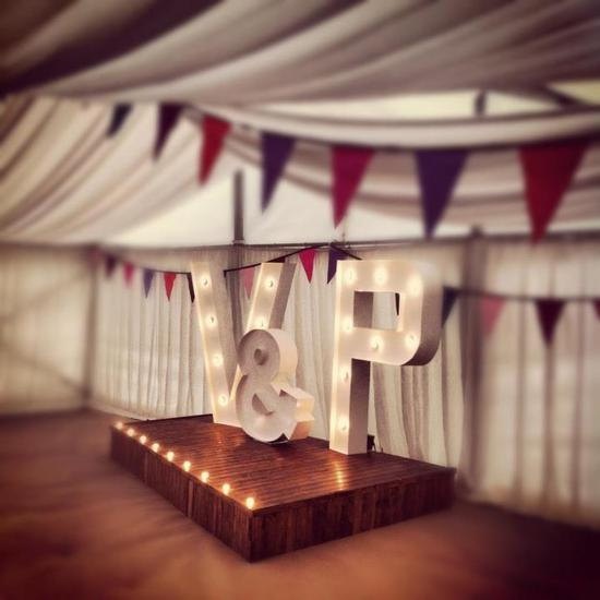 V P lightup wedding sign