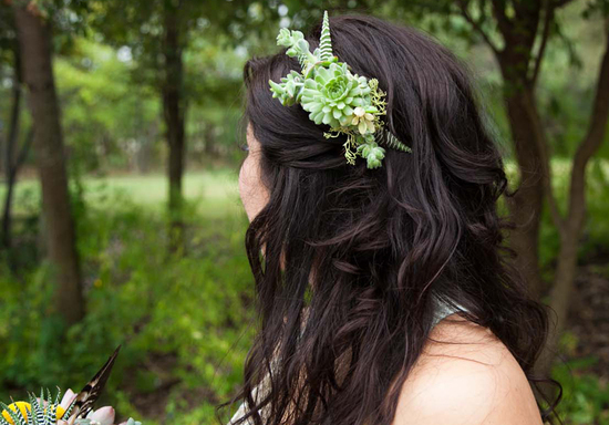 succulent bridal fascinator