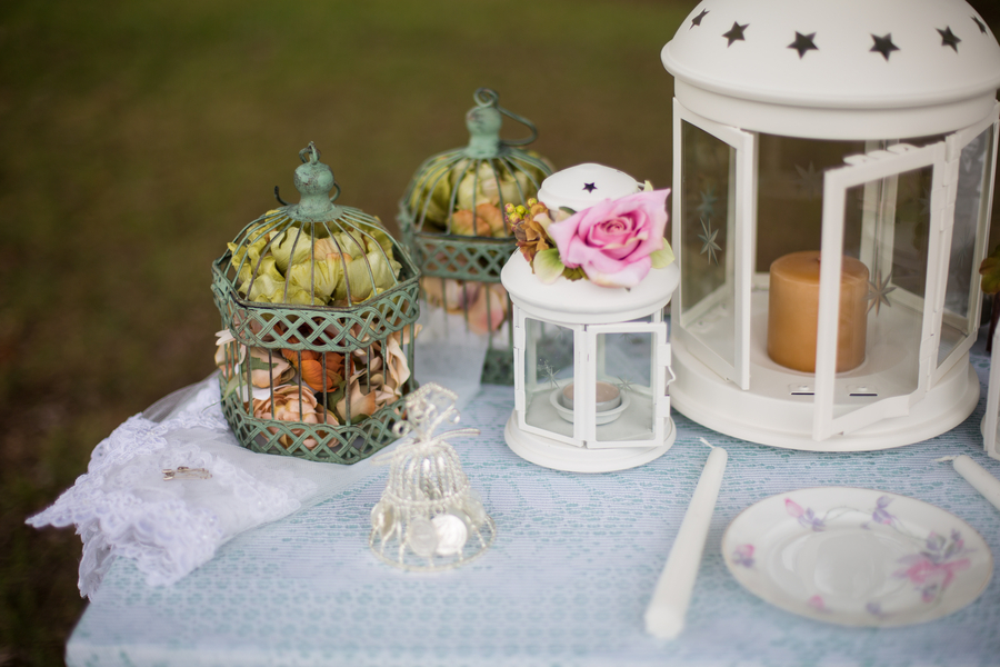 Lantern floral and antique China decor