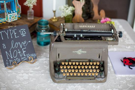 photo of Vintage typewriter guestbook