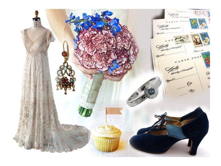 Summer-weddings-vintage-wedding-dress-bridal-bouquet.full