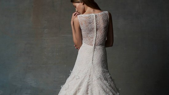 statement back wedding dress by Isabelle Armstrong