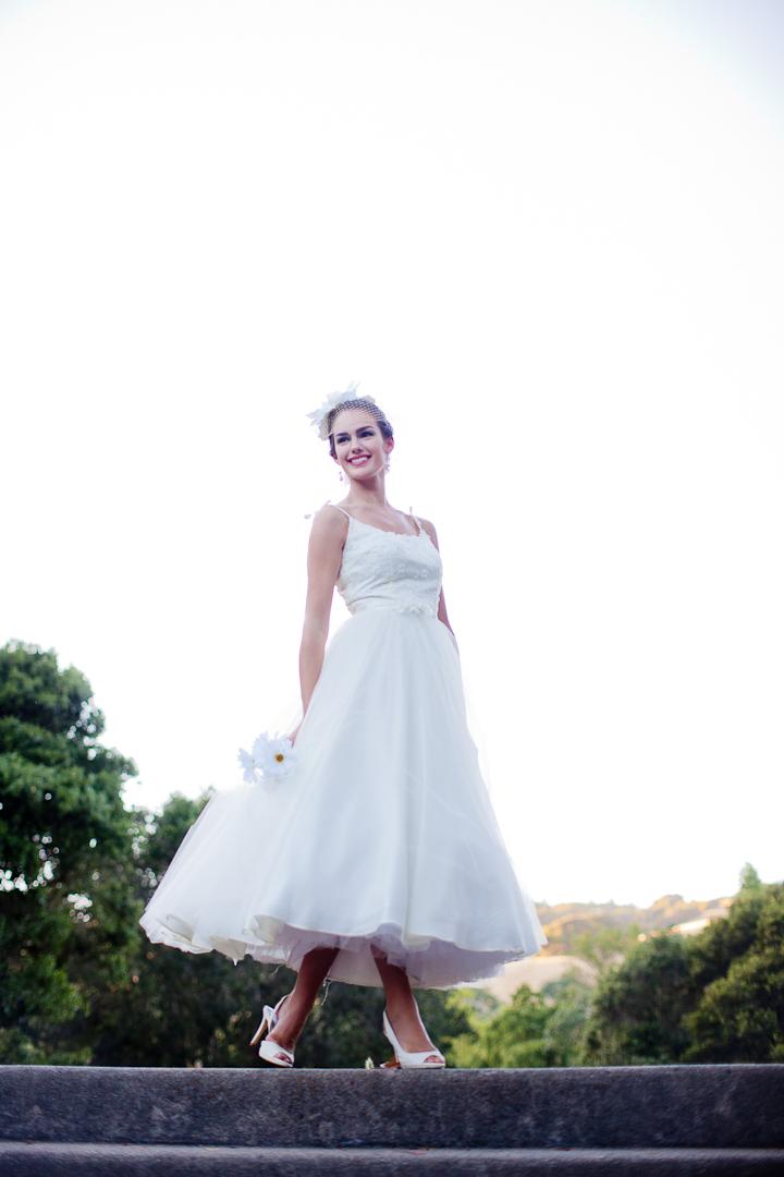 Vintage Inspired Tea Length Wedding Dress