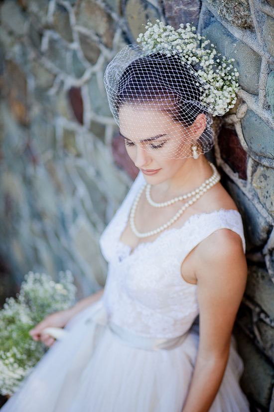 photo of Bridal Gowns and Veils Inspired by A Midsummer Night's Dream