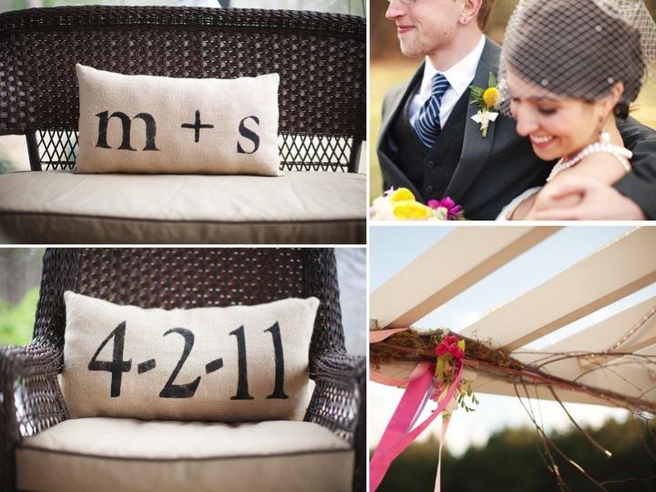 Monogram-wedding-pillows-outdoor-ceremony-venue.full