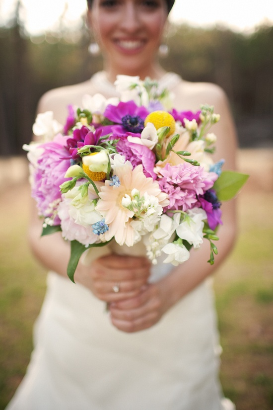 Romantic bridal bouquet at real Southern Spring wedding
