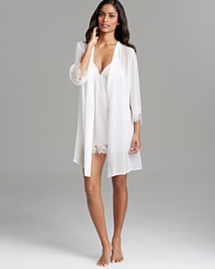 bridal robe and chemise