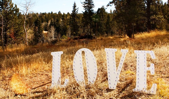 love large white marquee wedding letters full