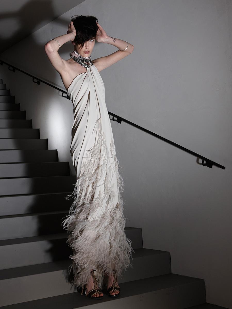 adorned Lanvin gown