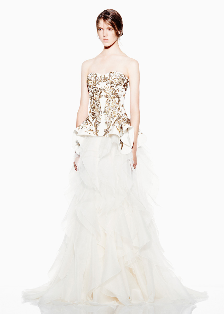 sarah burton for alexander mcqueen regal wedding dress