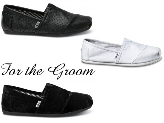 Casual TOMS wedding shoes for your groom