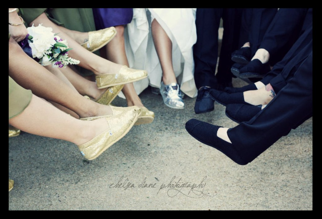 Charitable wedding ideas- wear TOMS shoes down the white aisle
