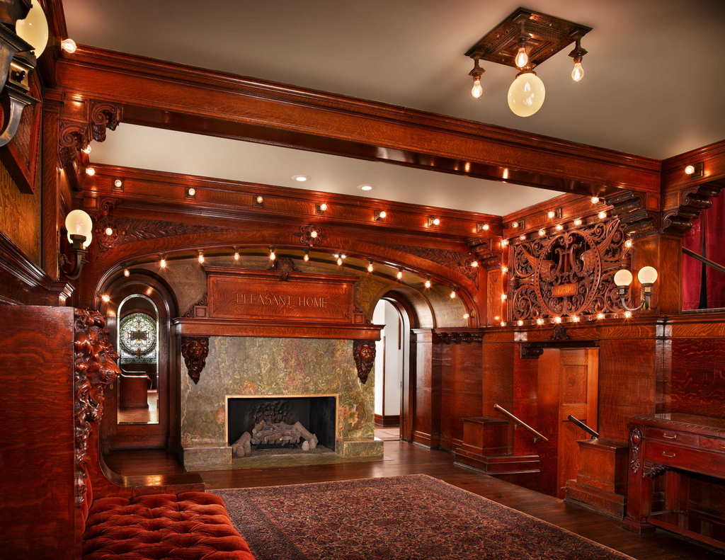 home foyer fireplace darris harris
