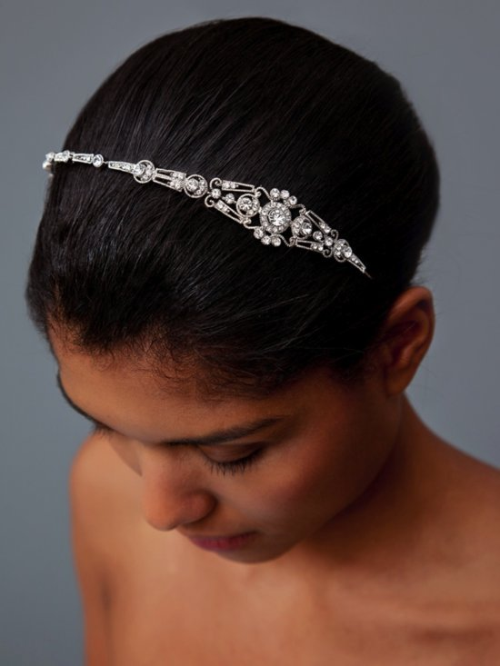photo of Mariel bridal headband by Nina via The Aisle New York
