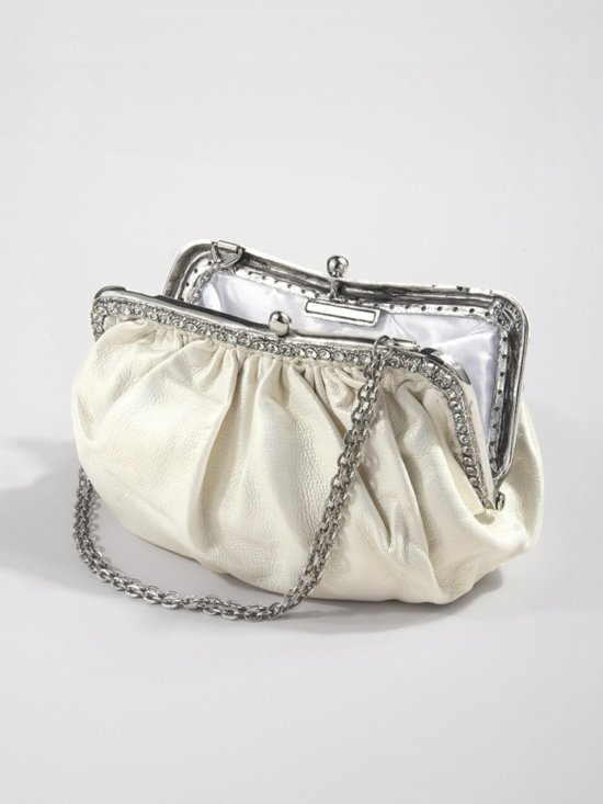 photo of Luxe bridal clutch by Clara Kasavina- Rebecca Pouch via The Aisle New York