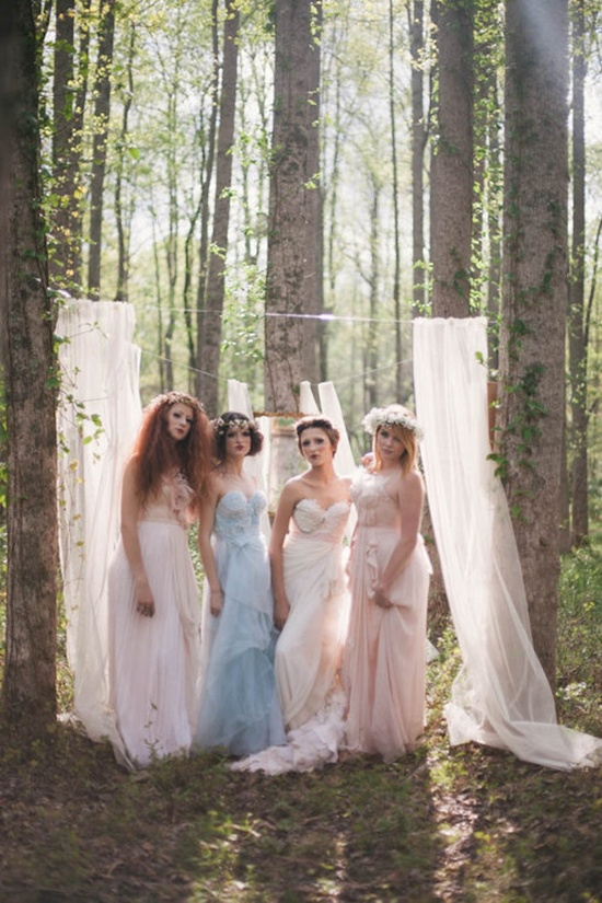 Alice in Wonderland Bridesmaids in the Woods