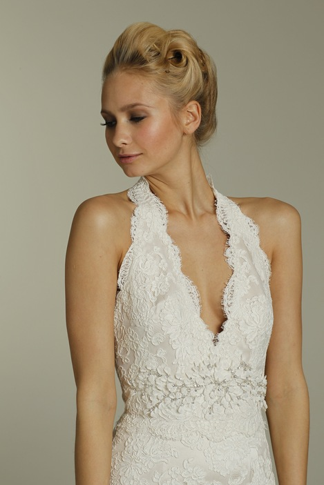 Romantic Lace One Shoulder Jim Hjelm Wedding Dress