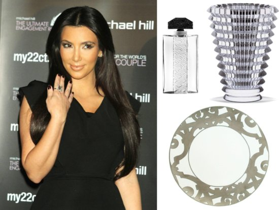 Kim Kardashian's wedding registry is filled with super expensive wedding presents