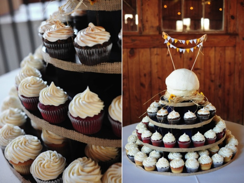 Rustic Chic South Carolina Wedding Reception With Cupcakes Instead Of Traditional Cake