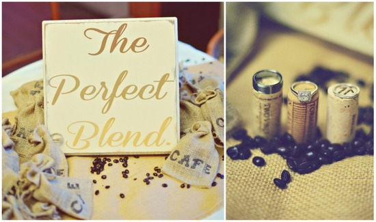 Coffee themed real wedding the perfect blend