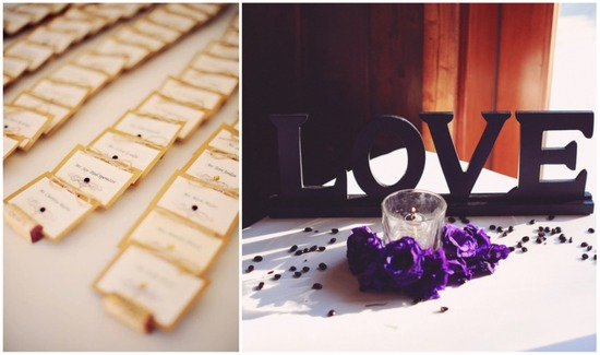Escort cards and LOVE letters