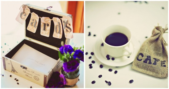 Rustic card box with a coffee theme
