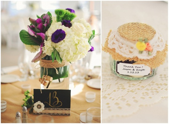 Rustic real wedding details